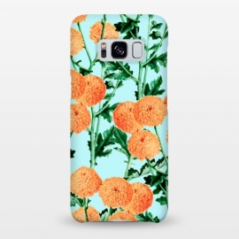 Galaxy S8+  Summer Bloom by Uma Prabhakar Gokhale (graphic design, other, pattern, gerbera, nature, tropical, exotic, indian, tagetes, floral)
