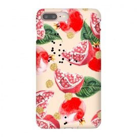 iPhone 8/7 plus  Sweet Pom by  (watercolor, other, pattern, surrealism, gold, golden, polka dots, tropical, fruit, food, exotic, sweet, delicious, nature)