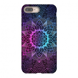 Purple blue mandala by Jms