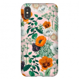 Wildflowers by Uma Prabhakar Gokhale (graphic design, pattern, floral, nature, botanical, flowers, coral, orange, pink, blush, blossom, bloom, flourish, dill, herbs, wild flowers, wildflower, forest, garden)