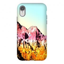 iPhone Xr  Gold and Pink Mountain by Creativeaxle