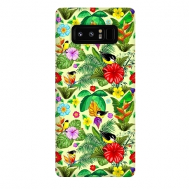 Galaxy Note 8  Birds and Nature Floral Exotic Seamless Pattern by BluedarkArt