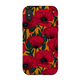 iPhone Xs / X  Red poppy garden by Katerina Kirilova