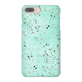 iPhone 8/7 plus  Mint and gold marble terrazzo design Confetti  by
