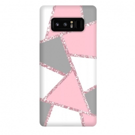 Galaxy Note 8  Geometric pink glitters by Jms