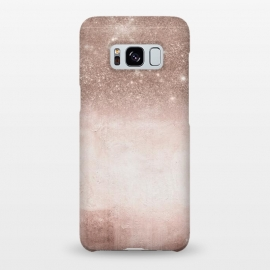 Galaxy S8+  Rose Gold Blush Glitter and  Concrete by Utart