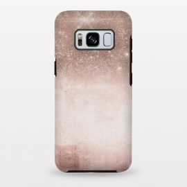 Galaxy S8 plus  Rose Gold Blush Glitter and  Concrete by