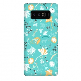 Galaxy Note 8  Beautiful BC Blooms on Bright Blue by Paula Ohreen