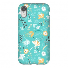iPhone Xr  Beautiful BC Blooms on Bright Blue by
