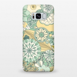 Galaxy S8+  Flowers, Flowers Everywhere - Cream and Mint by Paula Ohreen