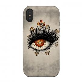 iPhone Xs / X  Weird Broken Eye Of Lava Digital Art by