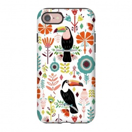 iPhone 8/7  Colorful Toucans  by Tigatiga