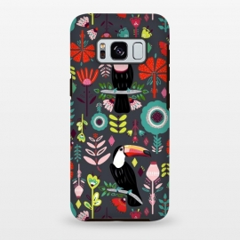 Galaxy S8 plus  Colorful Toucans With Bright Red  by