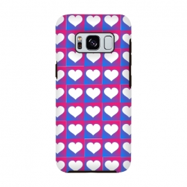 hearts pattern blue pink by MALLIKA
