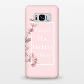 Carpe that fucking diem - with pink blush eucalyptus branch by Utart
