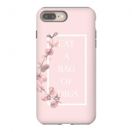 eat a bag of digs - with pink blush eucalyptus branch by Utart