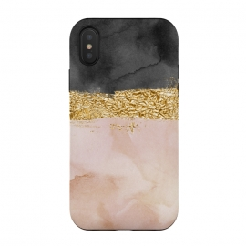 iPhone Xs / X  Rosegold by Haris Kavalla (rosegold,painting,gold,golden,foil,glitter,sparkle)