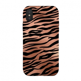iPhone Xs / X  Copper and Black Tiger by