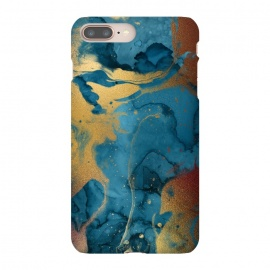 Gold and Indigo Ink Marble by Utart