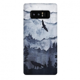 Galaxy Note 8  the mountains are calling- wolf and eagle by