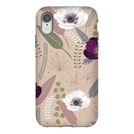iPhone Xr  Anemones Violet by