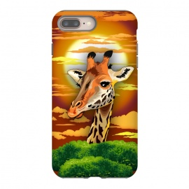 Giraffe on Wild African Savanna Sunset  by BluedarkArt