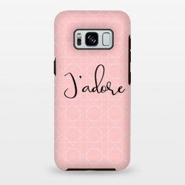 Galaxy S8 plus  Pink J'adore by  (love, pink,heart,pattern,elegant,for her,feminine,girly,modern,stylish)