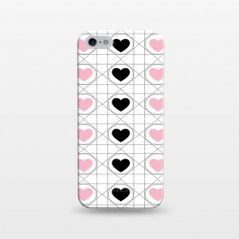 iPhone 5/5E/5s  Love Pattern by  (love,heart,pattern,modern,stylish,elegant,pink,typography,quote,words,for her,feminine,girly,valentine,valentines day)