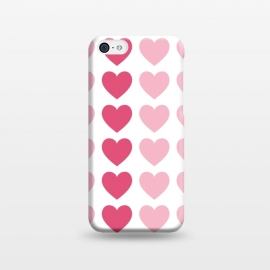 Pink Hearts by Martina (heart,hearts,love,valentine,valentines day,modern,geometric,pink,for her,feminine,girly,pattern)