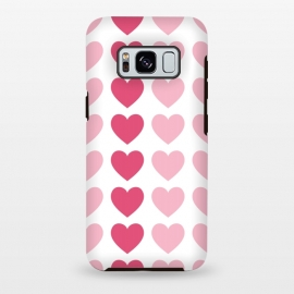 Galaxy S8 plus  Pink Hearts by
