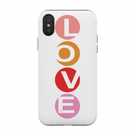 iPhone Xs / X  Elegant Love by  (for her,feminine,girly,modern,graphic,stylish,love,valentine,valentines day,quote,letters,typography)