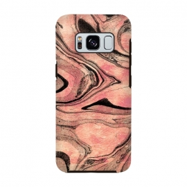 rose gold liquid marble with black lines by Oana