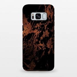 Galaxy S8 plus  Black marble with copper veins by