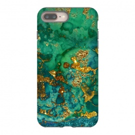 Green Summer Marble with Gold Veins by Utart