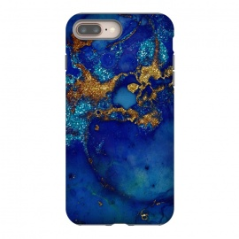 Ocean Blue and gold Marble  by Utart