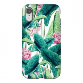 iPhone Xr  Lovely Botanical by  (acrylic, pattern, vintage, realism, botanical, nature, plant, tropical, exotic, floral, flowers)