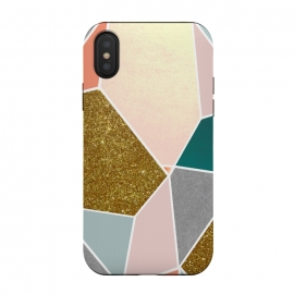 iPhone Xs / X  Geometric by  (graphic, other, pattern, abstract, gold, faux gold, sparkle, tropical, exotic, geometric, triangles, pastels)