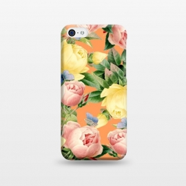 Flora by Uma Prabhakar Gokhale (graphic, other, pattern, floral, nature, leaves, tropical, roses, exotic, seamless, butterflies)