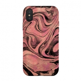 iPhone Xs / X  Golden liquid marble swirls painting by