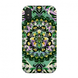 Green floral ethnic mandala by Oana