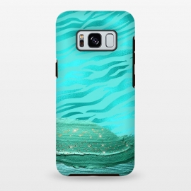 Galaxy S8 plus  Turquoise Tiger skin with thick paint strokes by