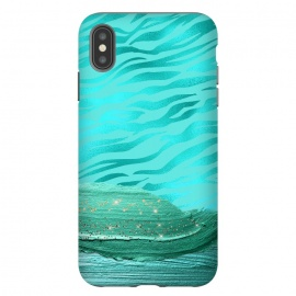 Turquoise Tiger skin with thick paint strokes by Utart