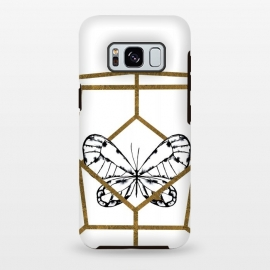 Galaxy S8 plus  Butterfly by  (butterfly,bugs,insect,minimal,black and white,black,geometric,nature)