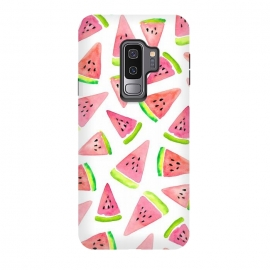 Galaxy S9 plus  Watermelons! by  (food,fruit,watermelon,summer,fruit pattern,summer pattern,tropical,watercolor)