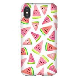 Watermelons! by Amaya Brydon (food,fruit,watermelon,summer,fruit pattern,summer pattern,tropical,watercolor)