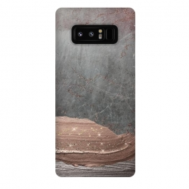 Galaxy Note 8  Blush thick hand drawn strokes on Concrete by