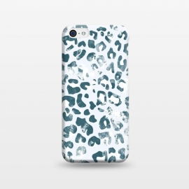 textured turquoise leopard print by Oana