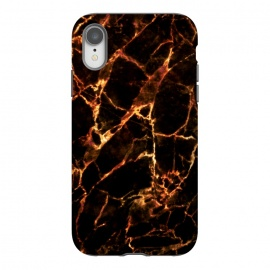iPhone Xr  Golden cracks marble  by