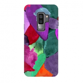 Galaxy S9 plus  Color crash by  (Watercolor, Abstract, nature, vintage, must have, Color, crash, fashion, style, home decor, paint, forest, leaves, pattern, trendy, jungle, motifs, petals, photographic prints, samsung galaxy cases skins, scarves, spiral notebooks, stickers, studio pouches, t shirts hoodies, throw pillows, tote bags)