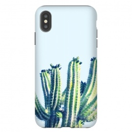 iPhone Xs Max  Cactus by  (other, digital manipulation, color, green, cactus, desert, botanical, plant)